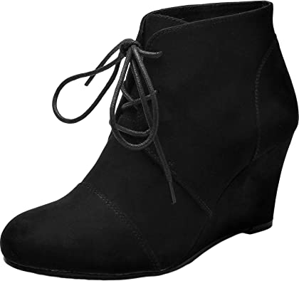 Women's Wide Width Ankle Boots, Block