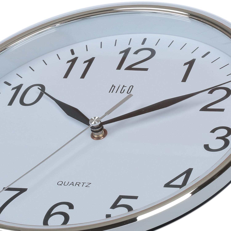 Amazon.com: hito Silent Wall Clock Non Ticking 10 inch Excellent ...