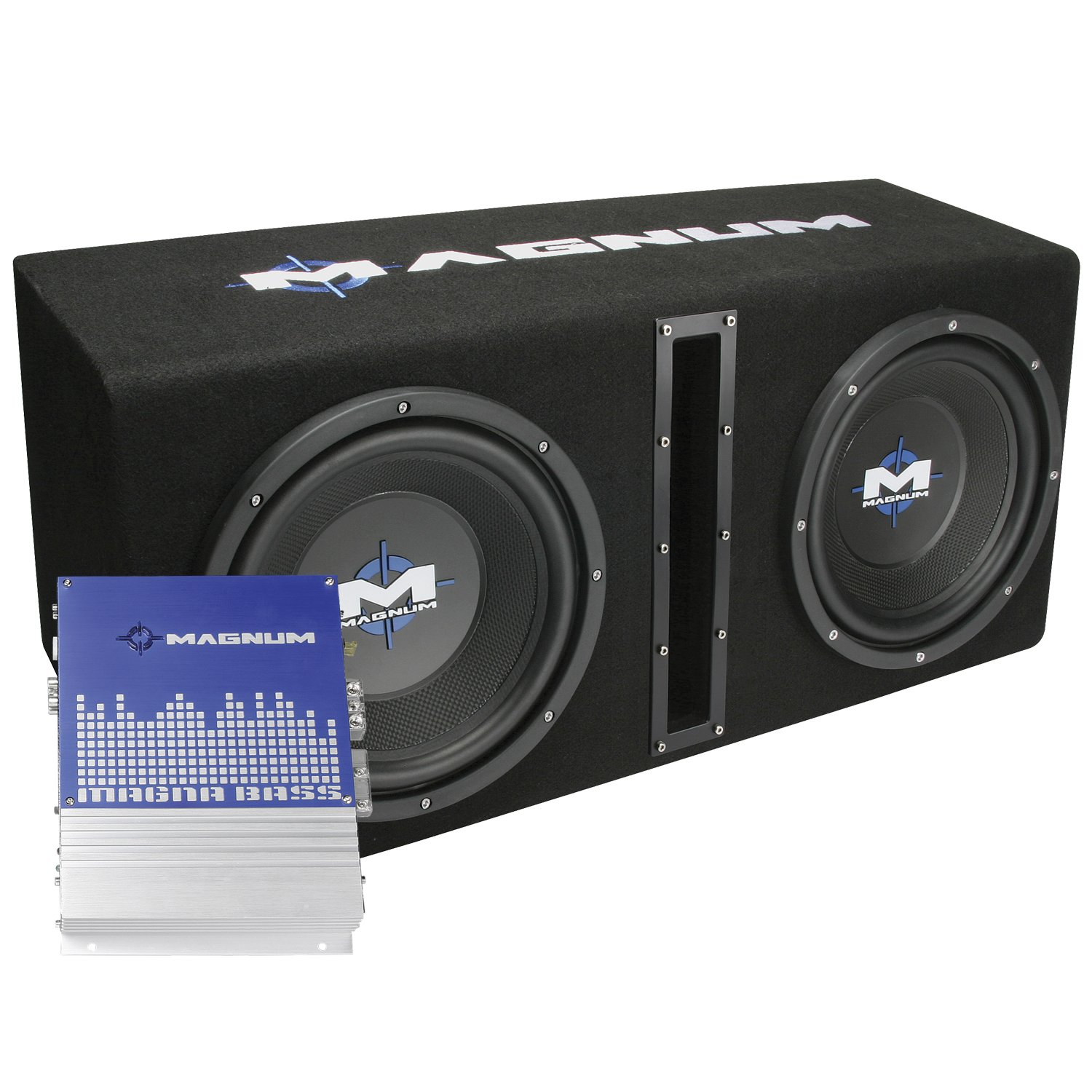 "Amazon.com: MTX Magnum MB210SP Dual 10"" Enclosure/Amp Combo: Car Electronics"