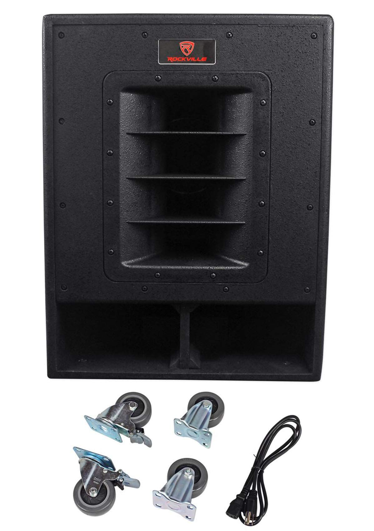 Rockville RBG15FA 15'' 2400 Watt Powered Subwoofer Sub for Church Sound Systems by Rockville