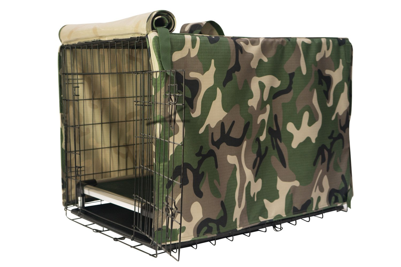 K9 Ballistics TUFF Crate Cover Green Camo - Toy (24''x18''x19'')