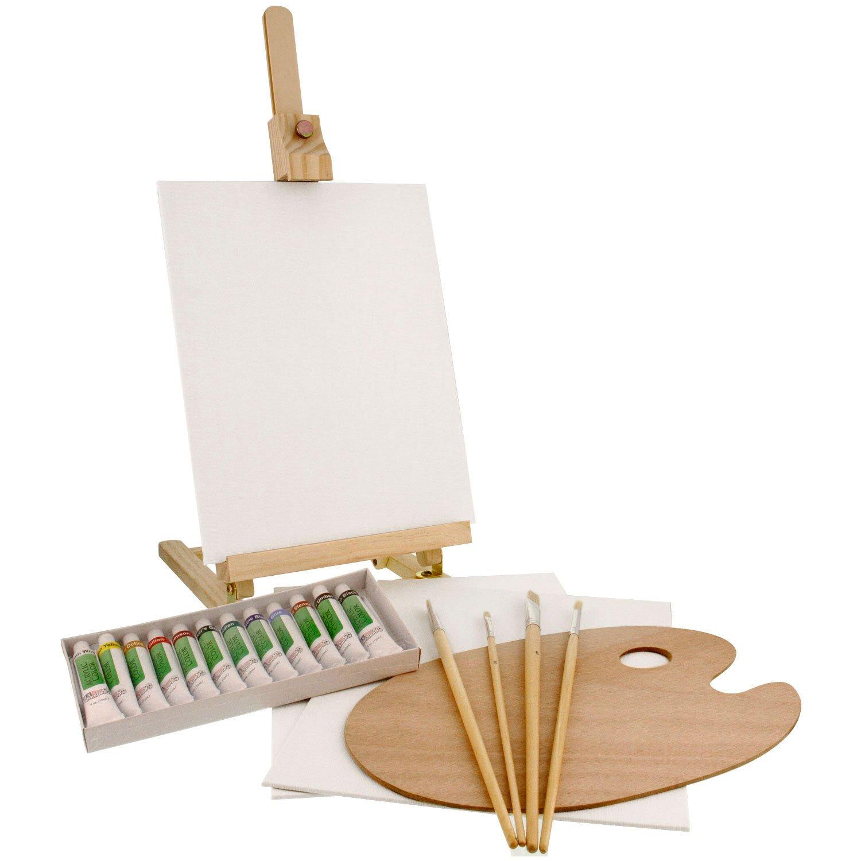 Wood Art Box Easel Paint Set
