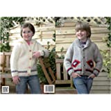 a643a1627 King Cole Super Chunky Knitting Pattern Boys Button Up Jacket   Girls  Hooded Cardigan 3821