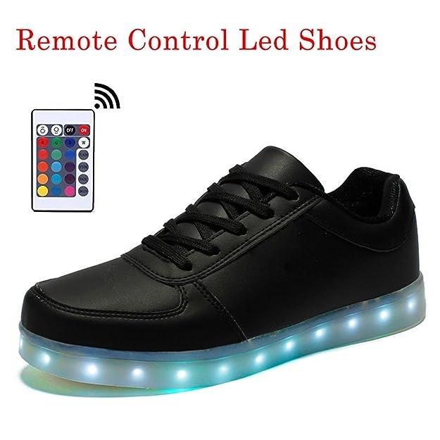 Amazon.com | Remote Control Led Shoes Men Luminous Lights Shoes Men Shoes USB Rechargeable Size 35-46 | Fashion Sneakers