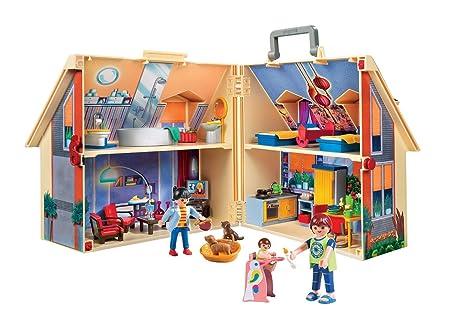 PLAYMOBIL Dollhouse Casa de Muñecas Maletín, A partir de 4 años ...