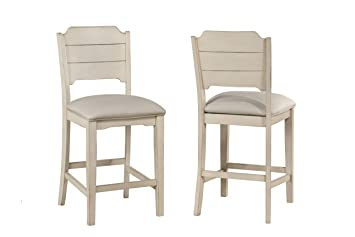 Miraculous Hillsdale Furniture Hillsdale Clarion Open Back Height Set Of 2 Sea White Swivel Counter Stool Frankydiablos Diy Chair Ideas Frankydiabloscom