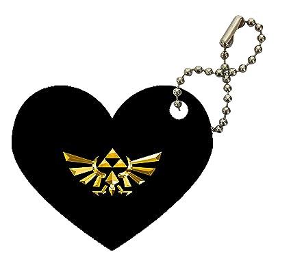 Amazon.com : Legend of Zelda Triforce Symbol Print Heart ...