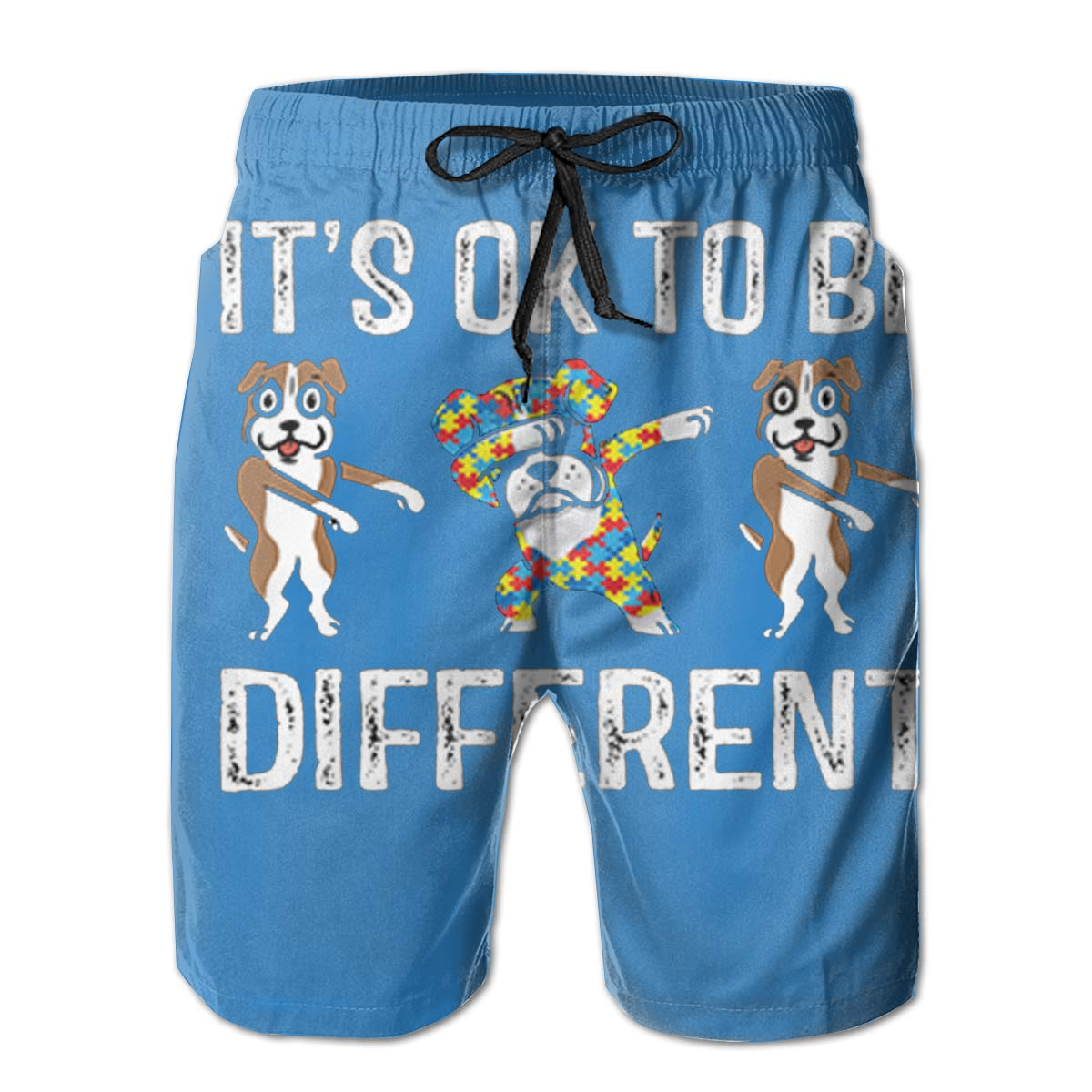 Reality And Ideals Its Ok to Be Different Mens Swim Trunks Board Shorts