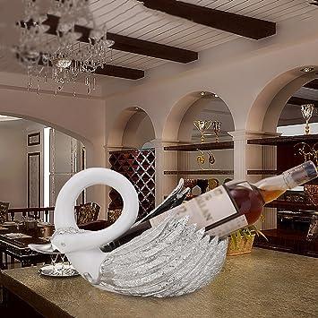 Casier à vin moderne résine accueil décorations swan wine rack salon vin armoire ornements cadeaux créatifs