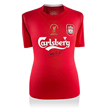 e3584facc Image Unavailable. Image not available for. Color  Steven Gerrard Signed  Liverpool Shirt ...