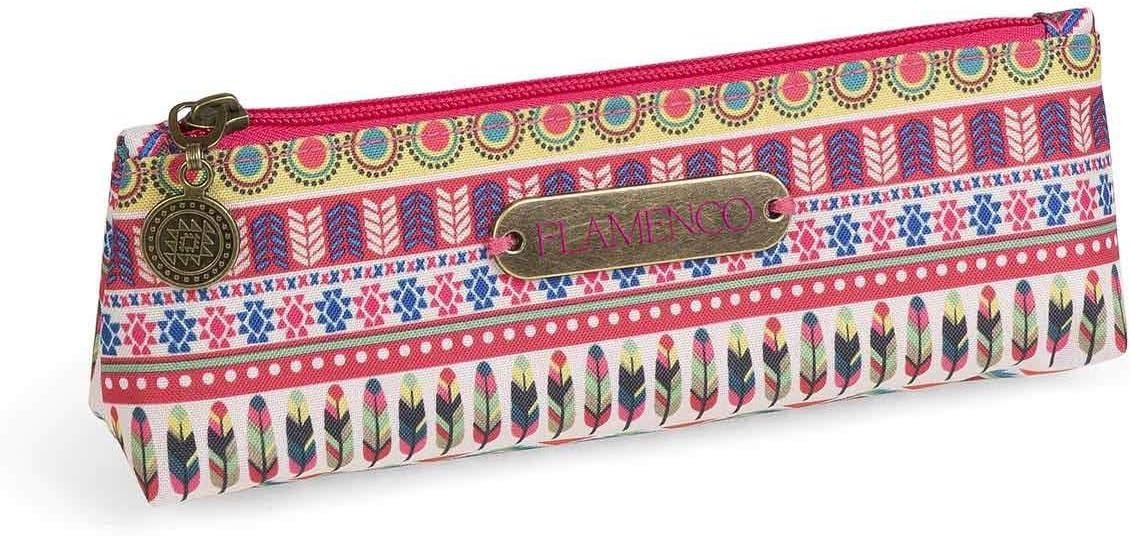 Dis2 - Estuche pequeño plano flamenco rosa: Amazon.es: Oficina y papelería