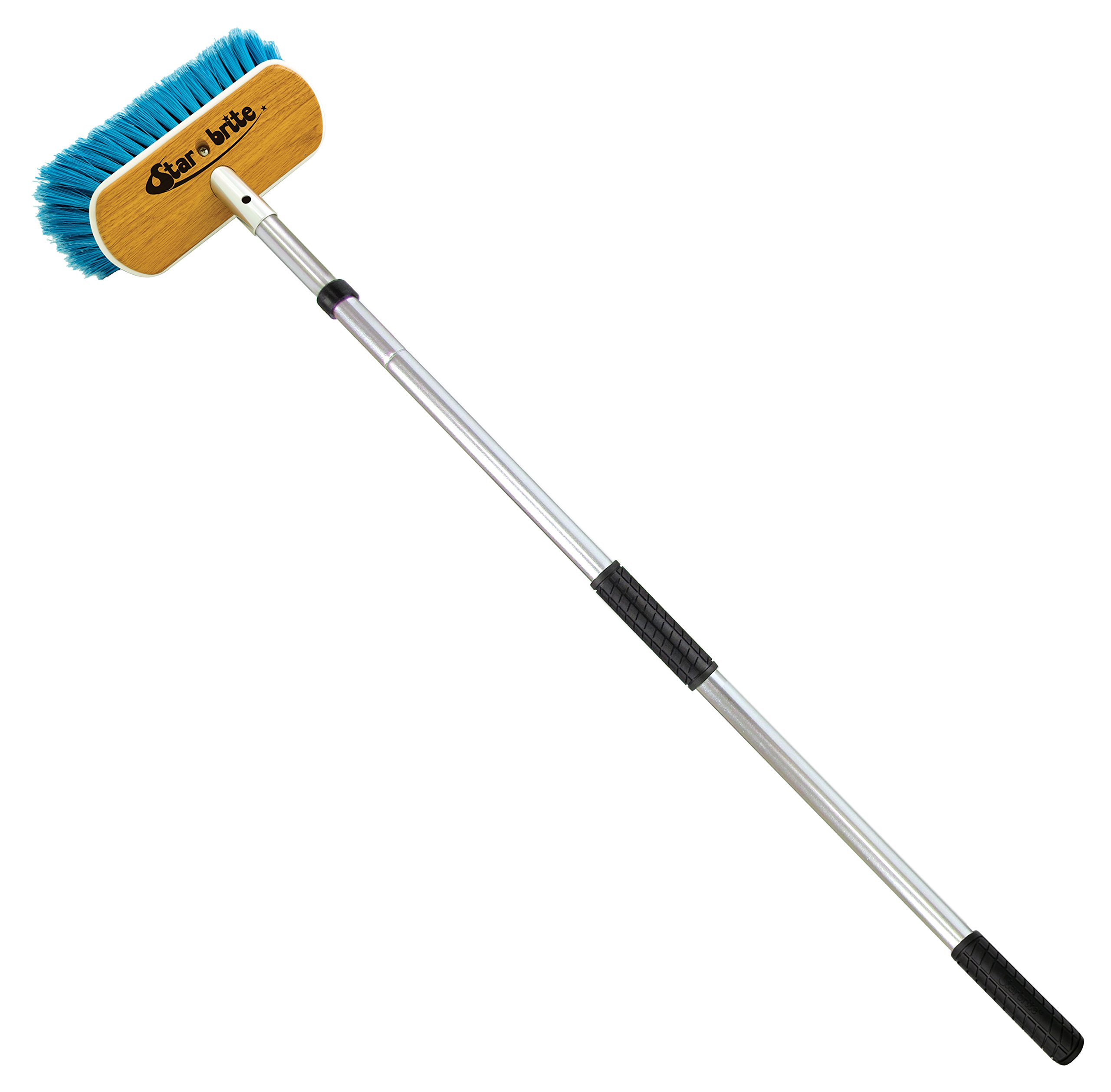 Star brite Premium Telescopic Floating Extend-A-Brush Quick-Connect Handle Combo, 3'-6'