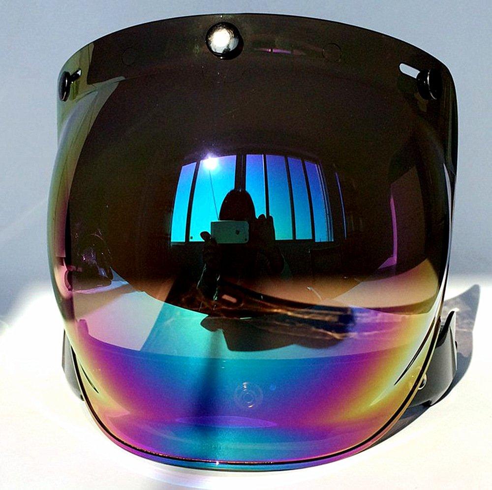 Amazon.com: cuzaekii Cascos Open Face casco para moto Bubble ...