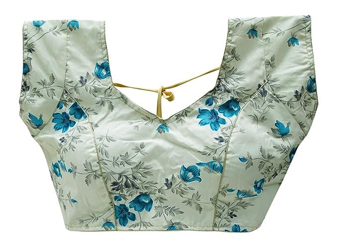 PEEGLI Diseñador Bollywood Sari Confeccionado Blusa Indio Mujeres Moda Sari Choli