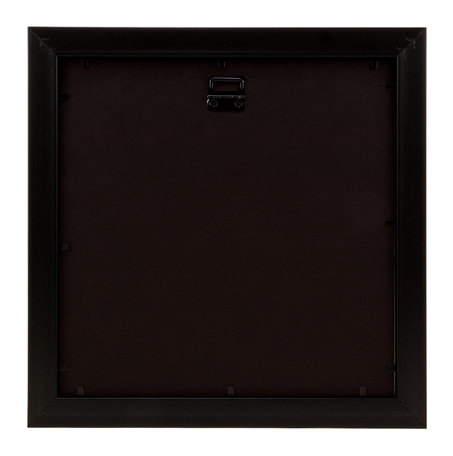 BorderTrends Nova 10x10//6x6-Inch Square Wall Frame Black with Black Mat