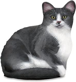 product image for Fiddler's Elbow Gray & White Cat Door Stop, Decorative Door Stopper, Interior, Doorstop Unique, Cat Doorstop, Grey Cat