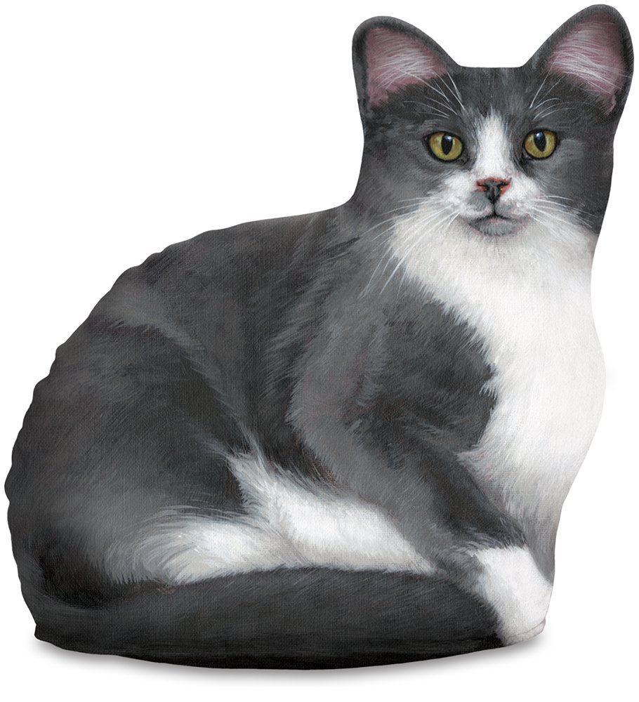 Amazon.com: Fiddler\'s Elbow Gray & White Cat Door Stop, Decorative ...