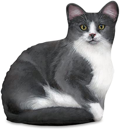 Calico Cat With Interesting Gps >> Amazon Com Fiddler S Elbow Gray White Cat Door Stop Decorative