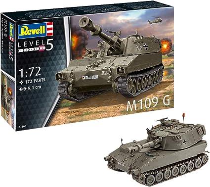 M109 G Tank Plastic Kit 1:72 Model 03305 REVELL