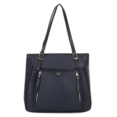 57f9dab11113 Da Milano LB-2225 Leather Shoulder Bag (Blue)  Amazon.in  Shoes ...