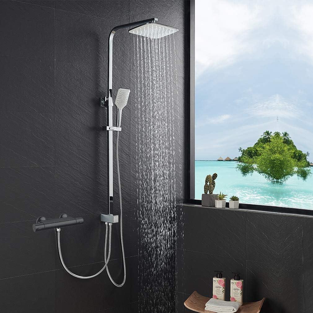 Lonheo - Columna de ducha de acero inoxidable: Amazon.es ...