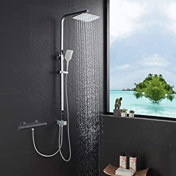 Juego de ducha Lonheo de acero inoxidable sin grifo, ducha de ...