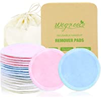 wegreeco Cotton Rounds Reusable - Reusable Bamboo Makeup Remover Pads for All Skin Types - Bamboo Cotton Cloth for…