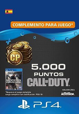 Call of Duty : Modern Warfare 5000 Points | Código de descarga PS4 - Cuenta española: Amazon.es: Videojuegos