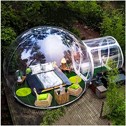 ZYJFP Inflatable Transparent Tent, Garden Igloo 360 Dome