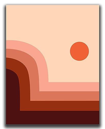 Earth Tone Wall Art Minimal Abstract Art Geometric Printable Mid Century Modern Decor Neutral Modern Decor