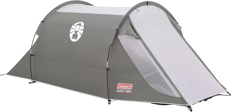 2 Personen Tunnelzelt Familienzelt mit Vorzelt wasserdicht WS 3.000mm Campingzelt 2 Mann Zelt Coleman Zelt Coastline Compact 2//3