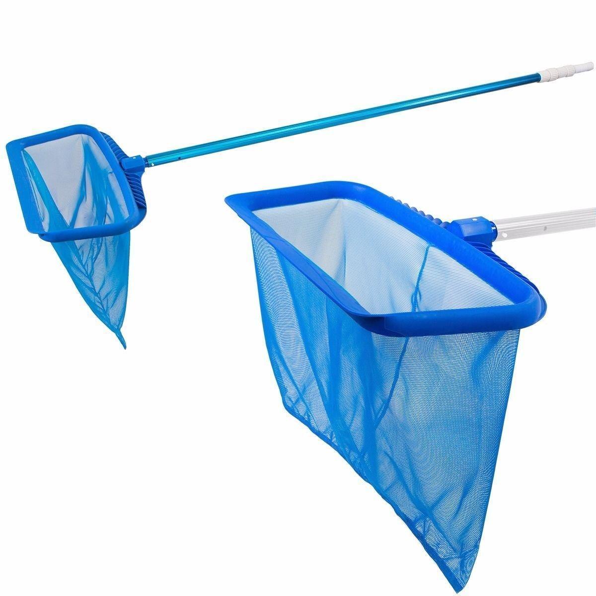 Professional Heavy Duty Deep Bag Swimming Pool Skimmer Mesh Net Leaf Rake Tools