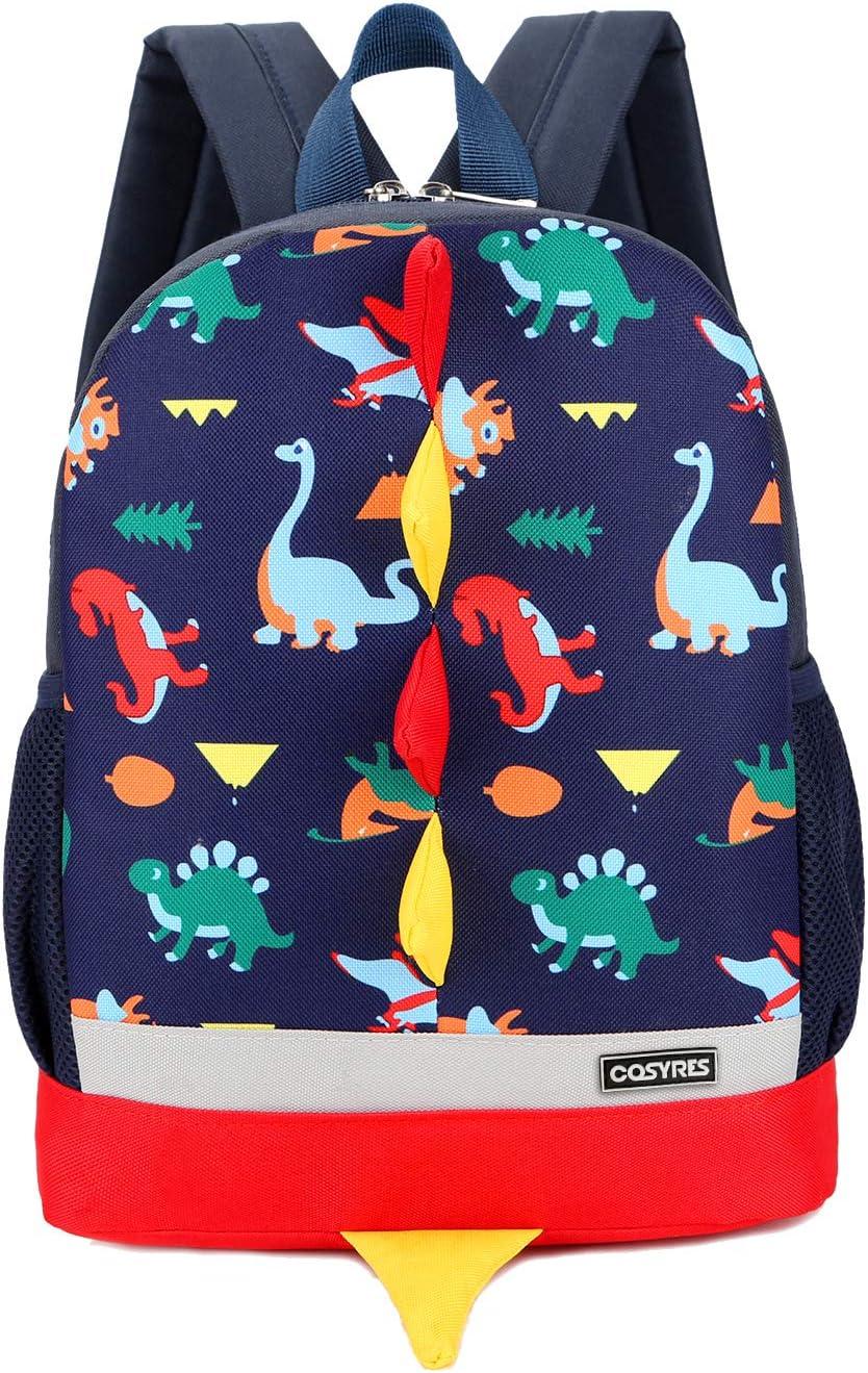Cosyres Dinosaurios Mochila para Niños Infantil Guarderia Mochila Escolar (Azul Oscuro)