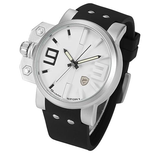 Salmon Shark Deportivos Relojes De Pulseras Hombre Silicona SH169: Amazon.es: Relojes