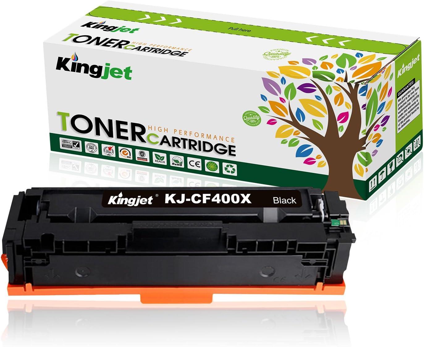 Kingjet Compatible Toner Cartridge Replacement for HP 201X CF400X, Work with Color Laserjet Pro MFP M277dw M252dw MFP M277n M252n Printer 1 Pack (Black)