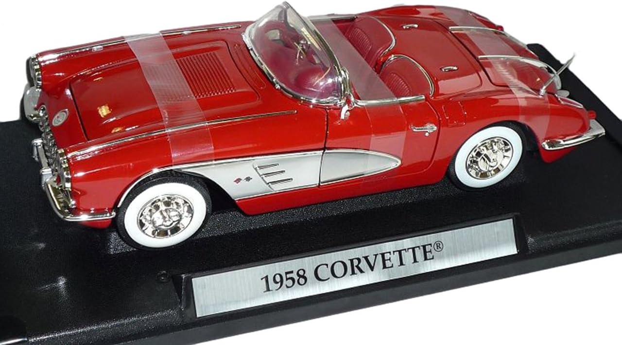 Chevrolet Corvette Cabrio C1 1958 rot Modellauto 1:18 Motormax