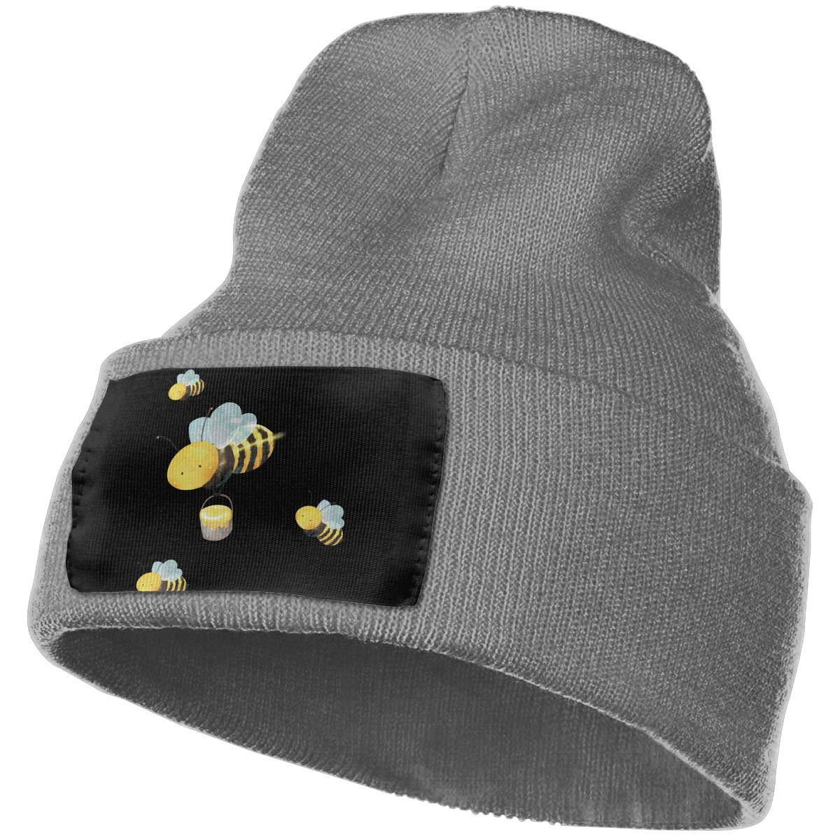 SLADDD1 Bees Warm Winter Hat Knit Beanie Skull Cap Cuff Beanie Hat Winter Hats for Men /& Women