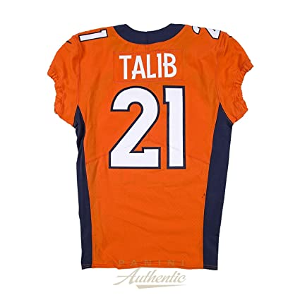 new product 61a7c acc40 Aqib Talib Game Worn Denver Broncos Jersey From 10/1/17 vs ...