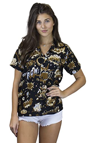 King Kameha Original Camisa Hawaiana | Mujeres | XS - 6XL | Manga Corta | Bolsillo Delantero | Estampado Hawaiano | BoomBang | Diferente Colores