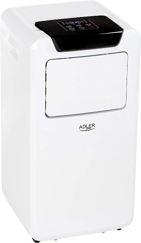 Adler AD7916 Acondicionado portátil programable, Mando Distancia, 9000 BTU, 380 m3/h, 3 Funciones Ventilador, deshumidificador, Enfriador Aire, clasificación energética A, Blanco: Amazon.es: Grandes electrodomésticos