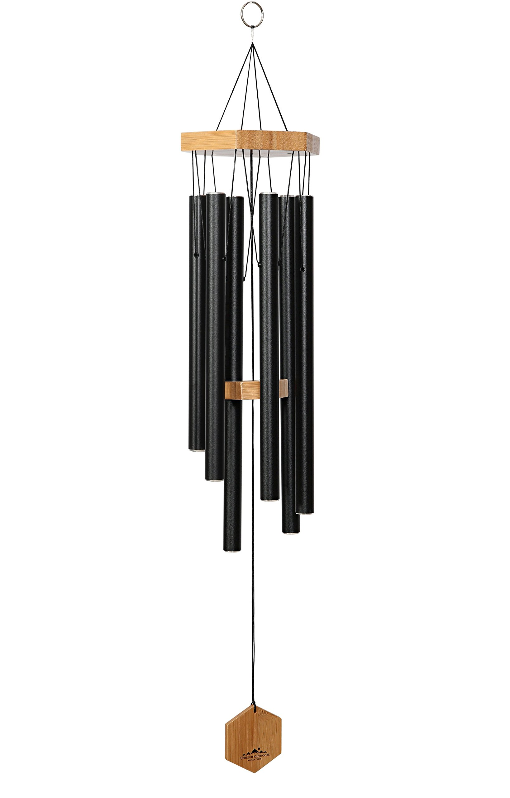 WIND CHIMES FOR PEOPLE WHO LIKE THEIR NEIGHBORS, Soothing Melodic Tones & Solidly Constructed Bamboo/Aluminum Chime, Great as a Quality Gift or to keep for Your own Patio, Porch, Garden, or Backyard. by UpBlend Outdoors