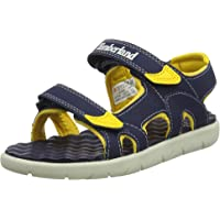 Timberland Unisex Kids Perkins Row 2 Ankle Strap Sandals, Blue (Black Iris 19), 2.5 UK 35 EU
