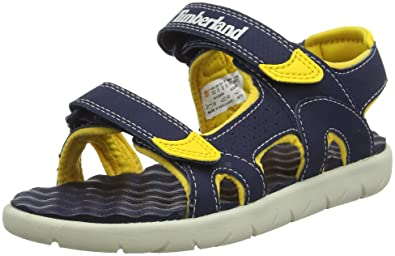 various styles hot-selling cheap famous brand Amazon.com | Timberland Perkins Row 2-Strap Navy/Yellow ...