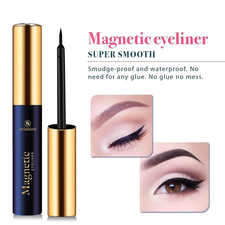 Amazon.com : Arishine Magnetic Eyelashes with Eyeliner - Magnetic ...