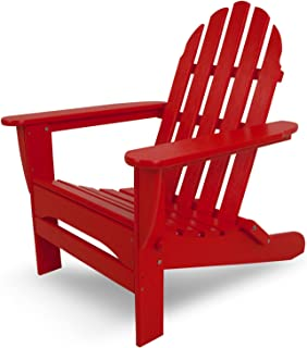 "product image for POLYWOOD AD5030SR Classic Folding Adirondack Chair, 38.5"" H x31.25 W x 33.5"" D, Sunset Red"