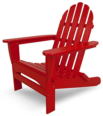 Phenomenal Polywood Ad5030Sr Classic Folding Adirondack Chair 38 5 H X31 25 W X 33 5 D Sunset Red Squirreltailoven Fun Painted Chair Ideas Images Squirreltailovenorg