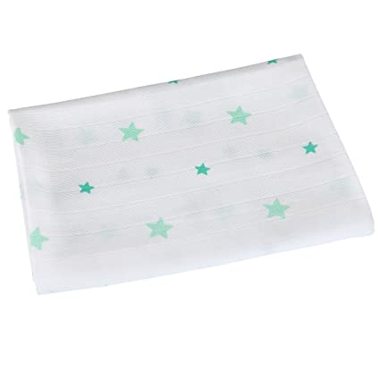 BORNINO pañales de gasa prelavado 120 x 120 cm tela para pañales, colour blanco