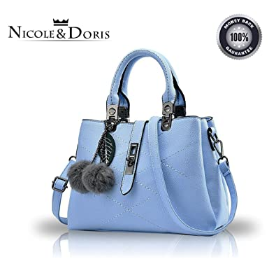 Nicole Doris new wave packet Messenger bag ladies handbag female bag  handbags for women(Azure) 3bad70c6479f2