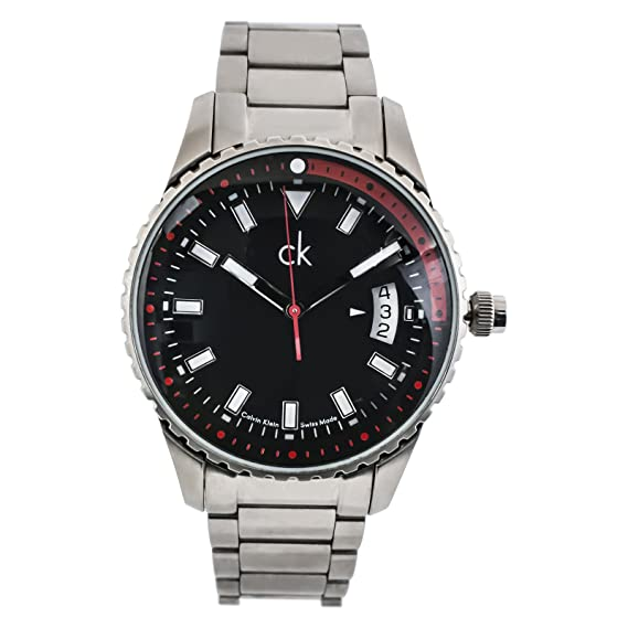 Para hombre reloj Calvin Klein plateado/negro K3211436