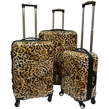 329a78671 Amazon.com | Karriage-Mate Leopard Hardside Spinner Luggage (Set of 3) | Luggage  Sets